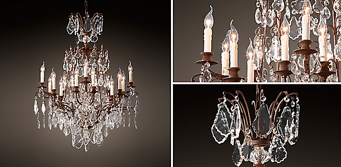Louis xv iron and crystal chandlier rh resources aloadofball Gallery