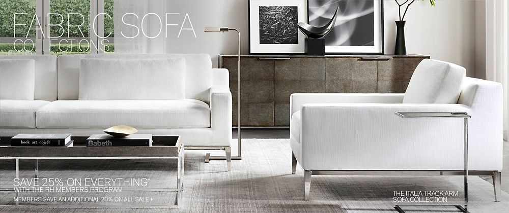 sofa collections | rh modern