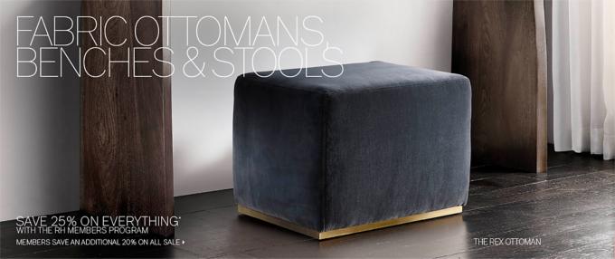 Ottomans Benches \u0026 Stools & Ottomans Benches \u0026 Stools | RH Modern islam-shia.org
