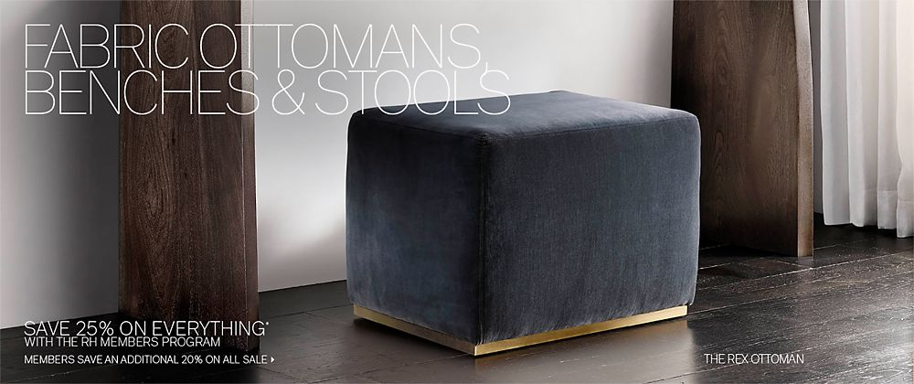 Ottomans Benches Amp Stools Rh Modern