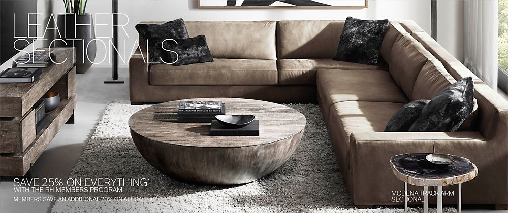 Incredible Sectional Collections Rh Modern Uwap Interior Chair Design Uwaporg