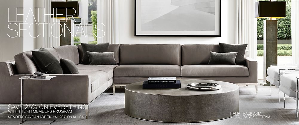 Admirable Sectional Collections Rh Modern Caraccident5 Cool Chair Designs And Ideas Caraccident5Info