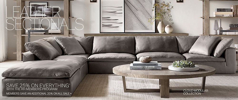 Amazing Sectional Collections Rh Modern Caraccident5 Cool Chair Designs And Ideas Caraccident5Info