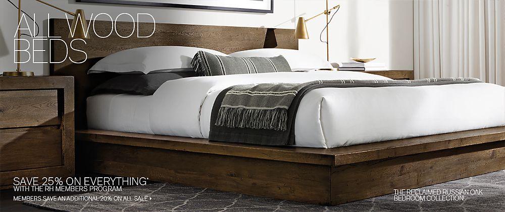 Wood Beds | RH Modern