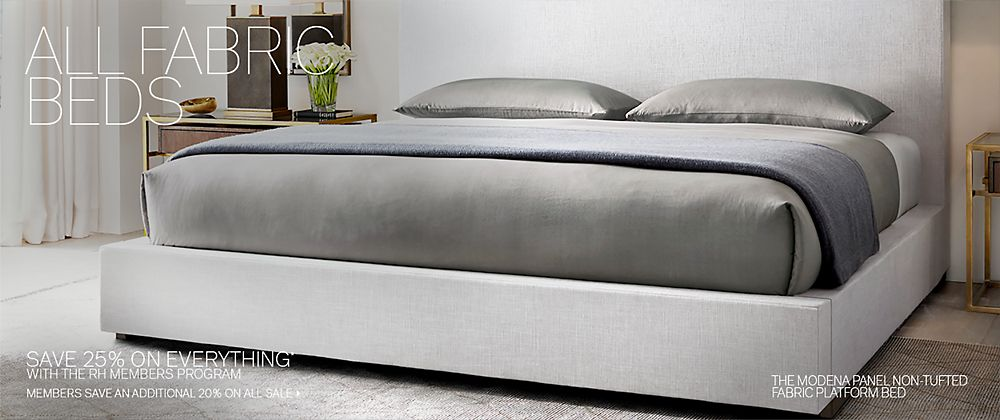 . All Fabric Beds   RH Modern
