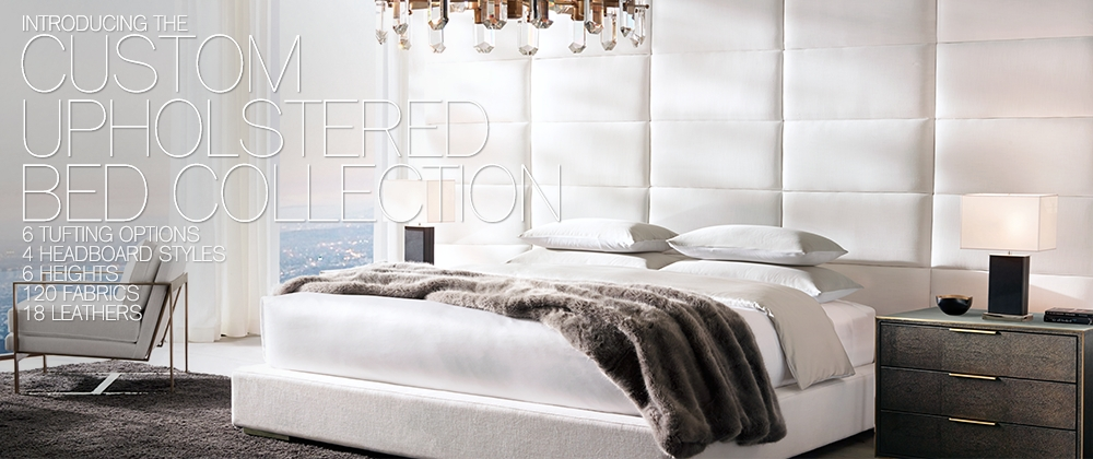 Custom Upholstered Bed Collections Rh Modern