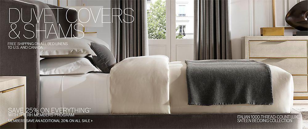 92a3f56b7ab2 Duvet Covers & Shams | RH Modern
