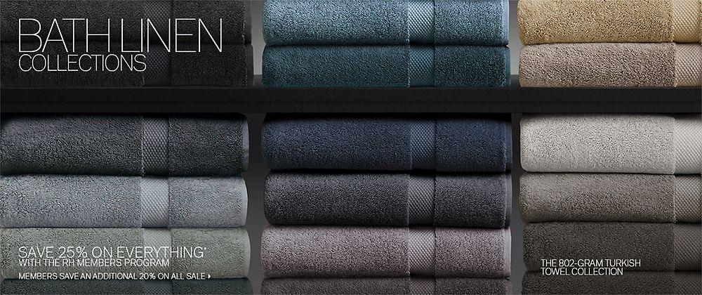 Bath Linen Collections Rh Modern