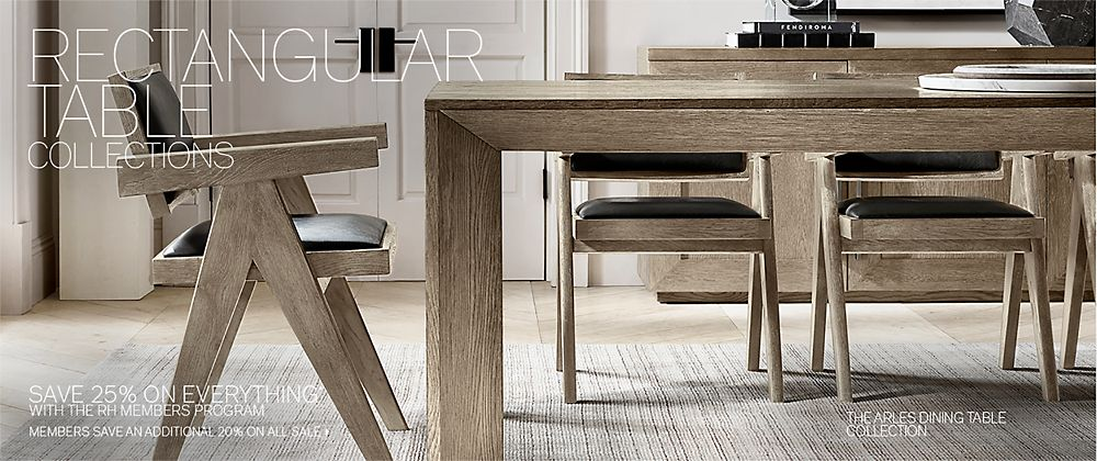 Rectangular Table Collections Rh Modern
