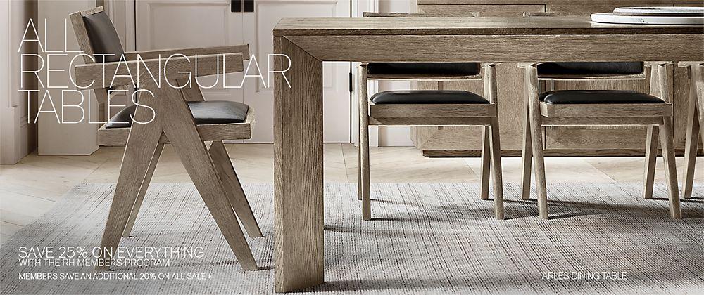 All Rectangular Tables RH Modern - Rh modern dining table