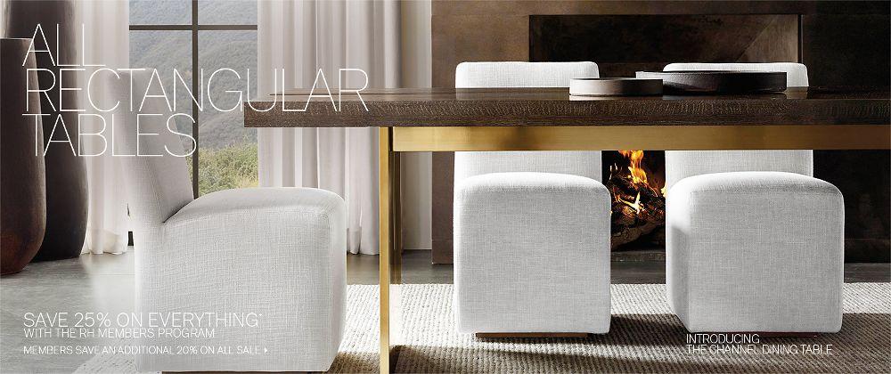 All Rectangular Tables | RH Modern