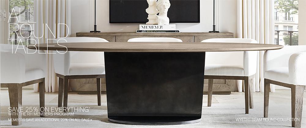 Round Tables Rh Modern
