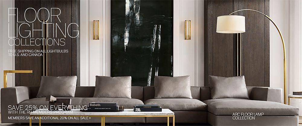Outstanding Floor Lighting Rh Modern Home Interior And Landscaping Pimpapssignezvosmurscom