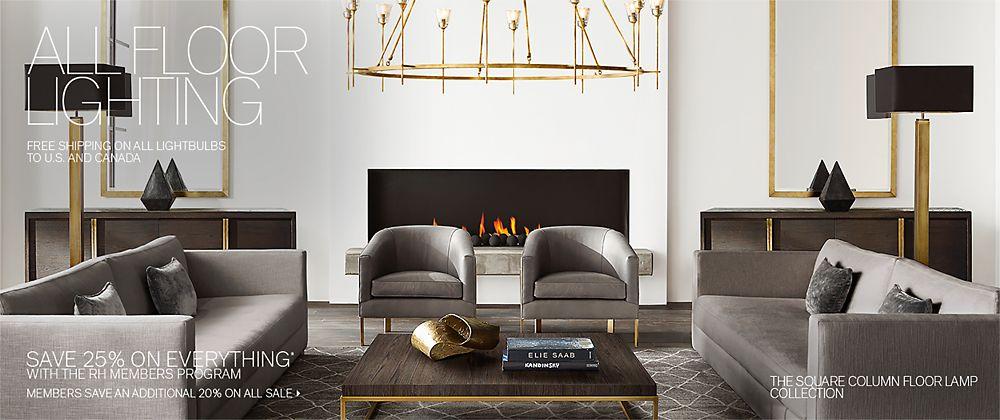 All Floor Lighting | RH Modern