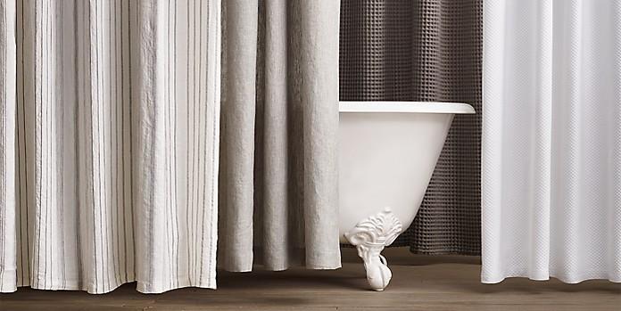 Cotton Linen Shower Curtains