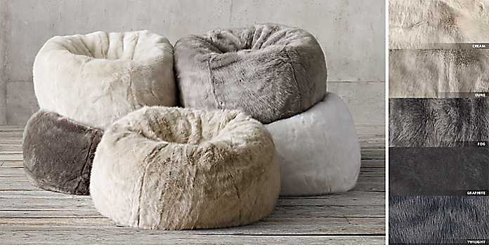 Faux Fur Bean Bag Collection FREE SHIPPING
