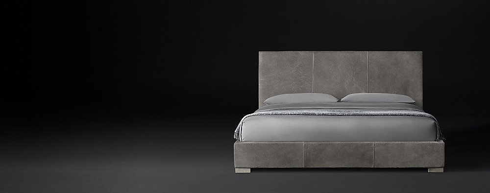 Leather Bed Collections Rh Modern