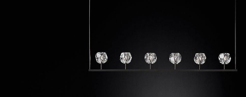 Boule de cristal linear chandelier collection rh modern