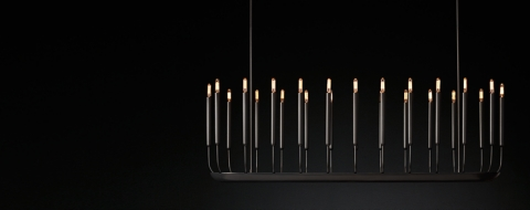 Quenouilles Linear Chandelier Collection RH
