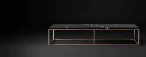 Nicholas Marble Rectangular Collection Black Marble Burnished