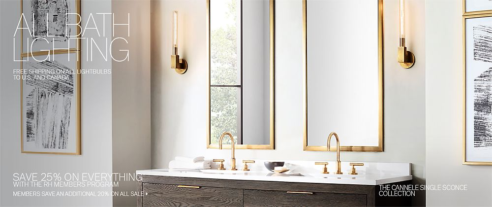 All Bath Lighting | RH Modern