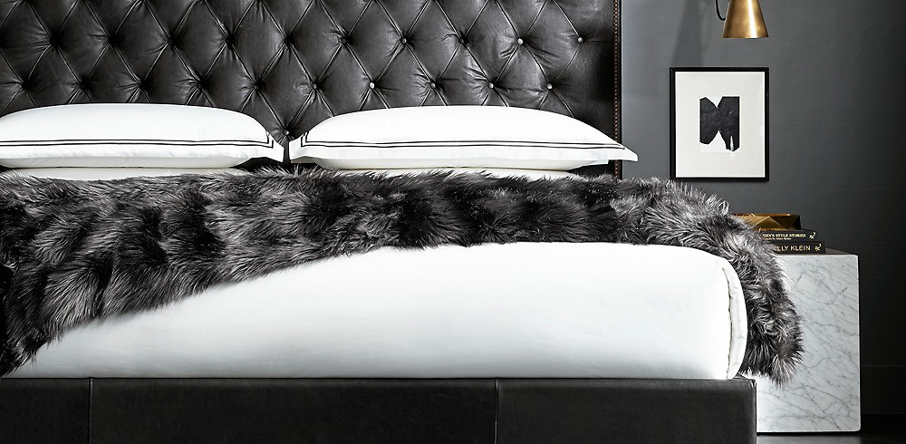 Exotic Faux Fur Oversized Bed Throw | RH Modern