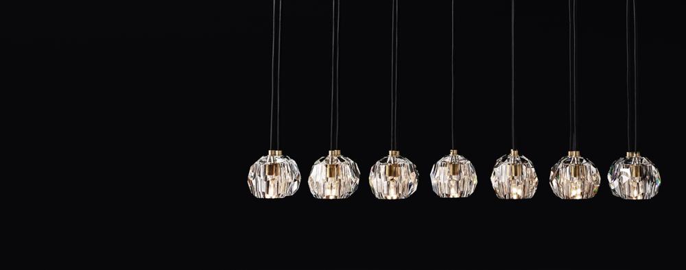Boule de cristal cluster linear collection