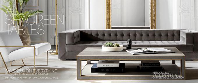 All Shagreen Tables RH Modern