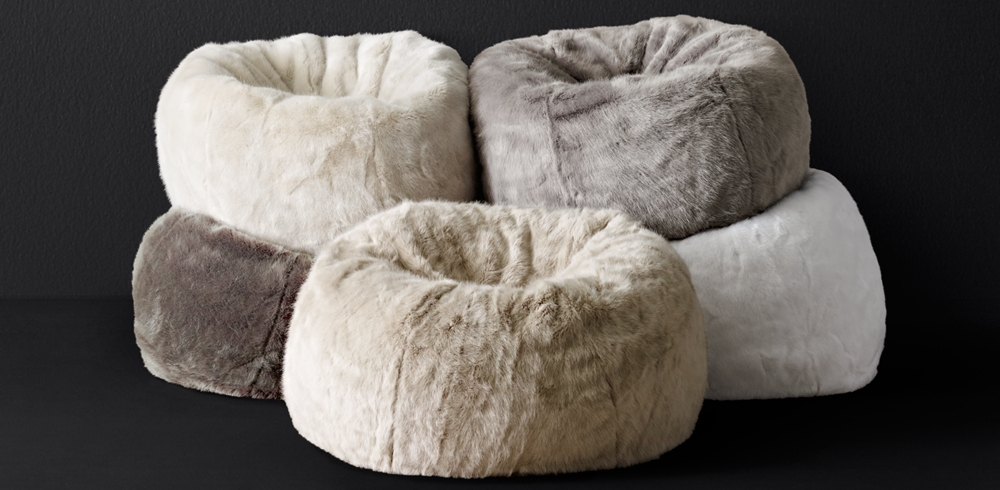 Fabulous Ultra Faux Fur Bean Bag Collection Rh Modern Pabps2019 Chair Design Images Pabps2019Com