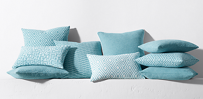 navy and green pillows sofa pillow collections rh