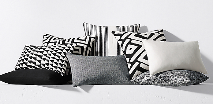 Dayo Outdoor Pillow Collection By Kerry Joyce Black White Rh