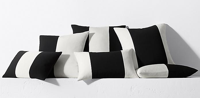 Black White Childrens And Pattern Rectangular Pillows Society6