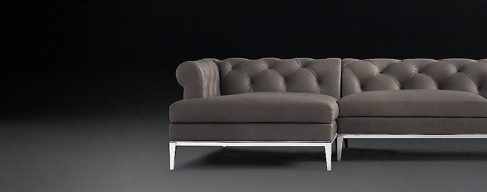 Pleasant Italia Chesterfield Leather Sectionals Metal Base Rh Caraccident5 Cool Chair Designs And Ideas Caraccident5Info