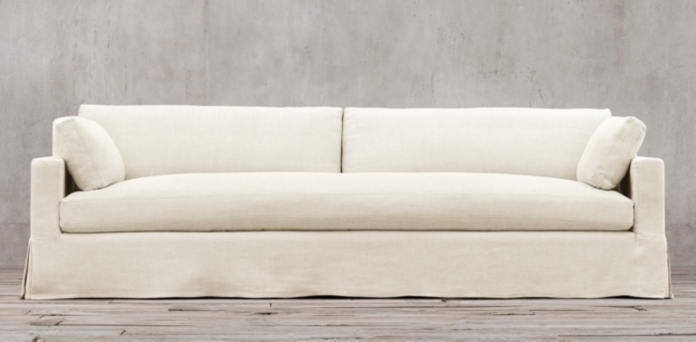 RH Belgian track arm slipcovered sofa