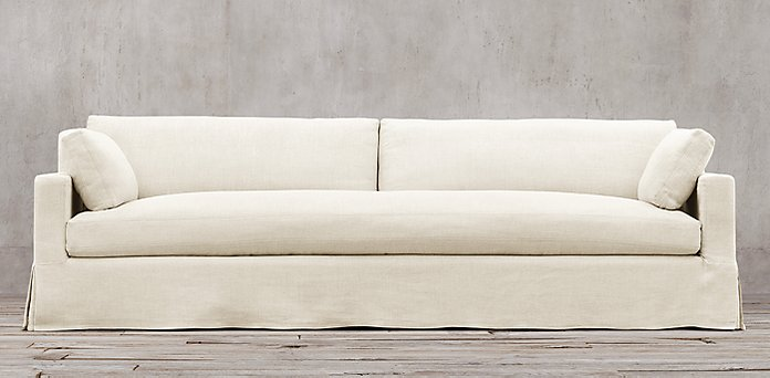 Belgian Track Arm Slipcovered Collection - Sofa Collections RH