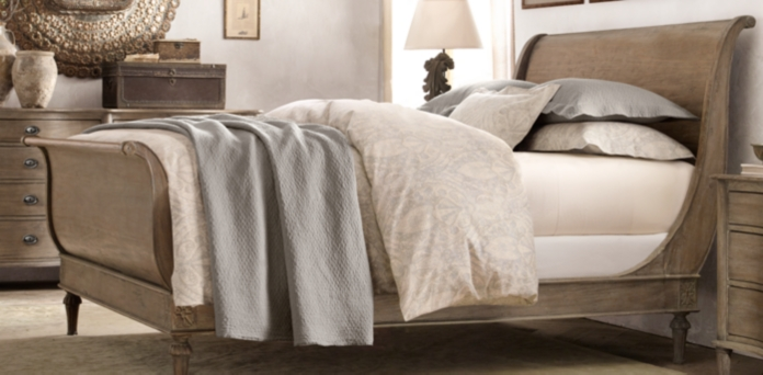 Bedroom Sets Restoration Hardware empire rosette collection - antiqued grey | rh