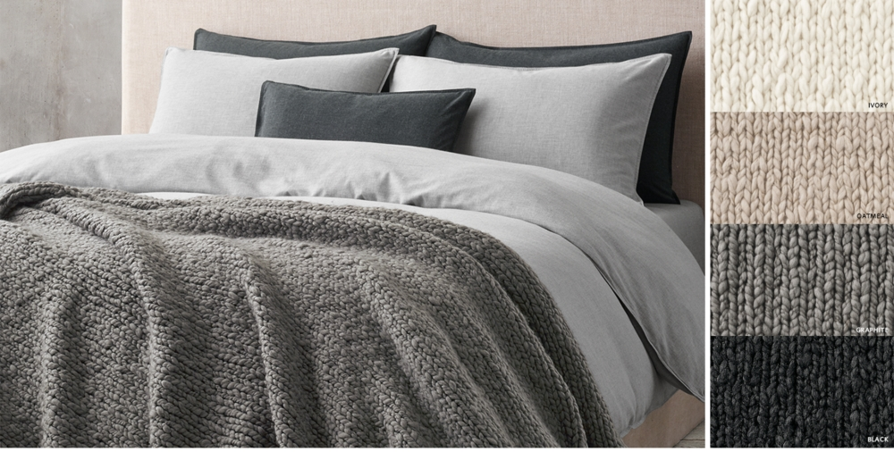 Hand Knit Oversized Bed Throw Free Shipping. Bed Throws   Blankets   RH