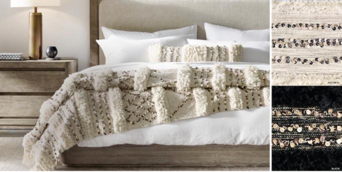 Moroccan Wedding Striped Oversized Bed Throw U0026 Sham Free Shipping