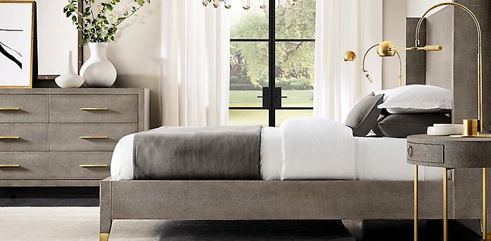 Graydon Shagreen Bedroom Collection Rh