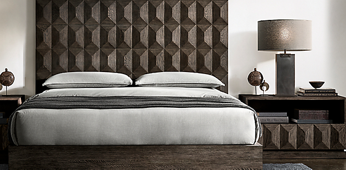 Geometric Bedroom Collection - Ash Brown Oak | RH