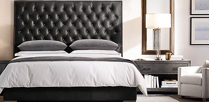 Swell Leather Bed Collections Rh Creativecarmelina Interior Chair Design Creativecarmelinacom