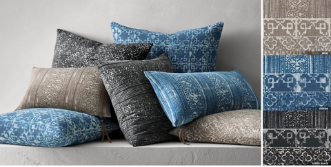 batik mudresist pillow collection free shipping