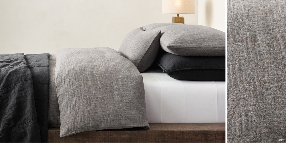 ecco geometric bedding collection free shipping - Restoration Hardware Bedding