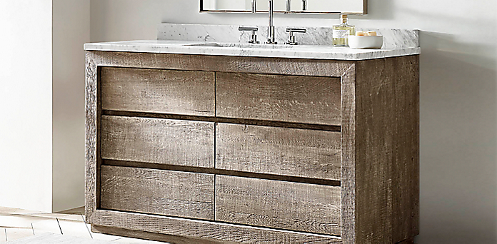 Reclaimed Russian Oak Vanity Collection