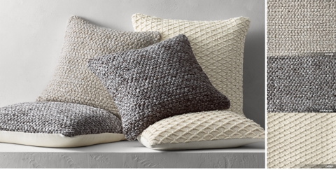 Textured Wool Chunky Weave U0026 Diamond Pillow Collection By Ben Soleimani  Free Shipping