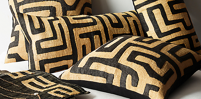 Kuba Cloth Pillow Cover Collection Rh