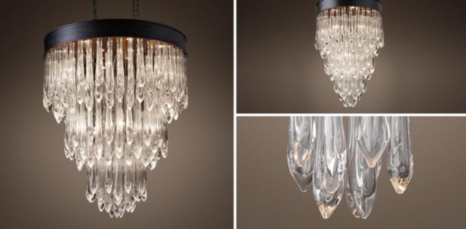 Teardrop Glass Chandelier Collection RH