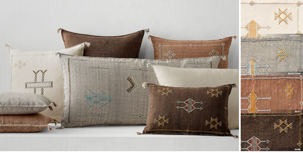 Moroccan Cactus Silk Pillow Collection Free Shipping