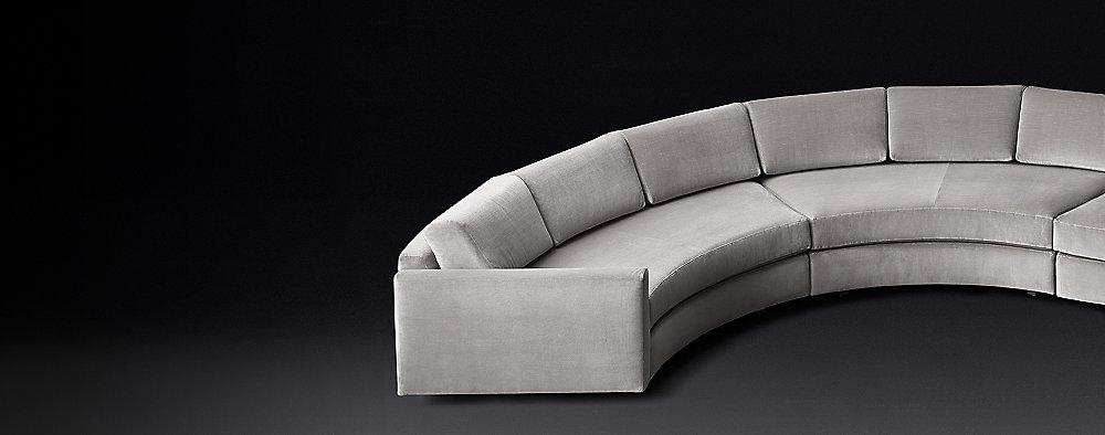 Curve Modular Fabric Sectionals | RH Modern