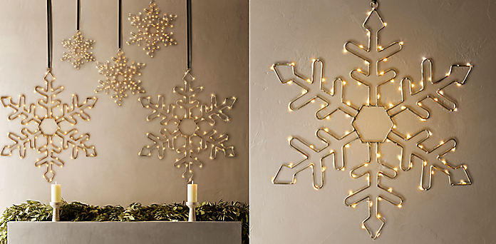 starry light snowflake collection - Restoration Hardware Christmas Lights